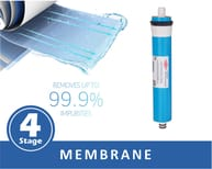 RO Membrane removes 98% of impurities including organic and inorganic, chemicals