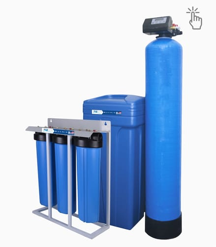 Salt base water softener system