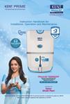 kent prime water purifier catalog