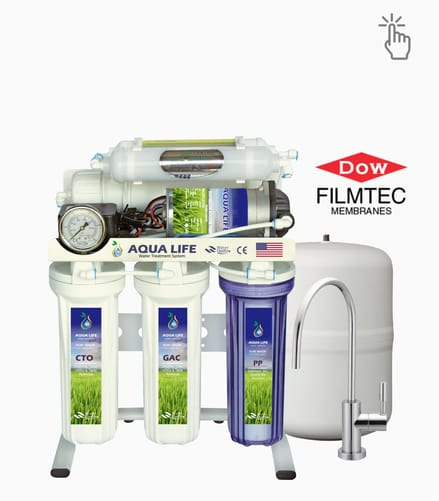 Aqua Life best home 6 stage water filter with Dow USA membrane